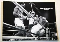 "Sugar Ray Leonard vs Thomas Hearns I KO14 B&W Boxing Photo Picture 12 x 8.75"""