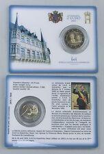 2 Euro Luxemburg 2015 Thronbesteigung Henri st/bu in coincard