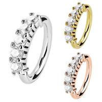 Hot Nose Ring Ear Hoop Helix Cartilage Earring Crystal Stainless Steel Piercing