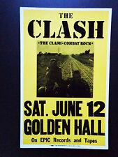 THE CLASH   -  AT THE GOLDEN HALL -  ORIGINAL VINTAGE ROCK CONCERT PROMO POSTER