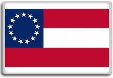 1st National Flag (13 Stars) Confederate flag fridge magnet