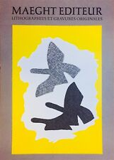 Braque Georges Affiche en lithographie 1973 art abstrait abstraction Zurich