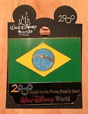 Millennium Village WDW Flag Pin Brazil Pavilion 2000 Disney Pin NEW ON CARD