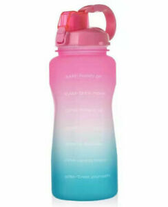 Water Bottle Time Marker, 2.2L Extra Large Motivational Sport Bottle With Straw