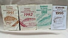 Pa Fishing Regulations and Laws Summary Booklets 1991, 1992, 1993, 1995