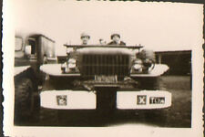 RASTATT ? PHOTO TROUPES FRANCAISES EN ALLEMAGNE CAMION GMC ? TOA 1947 ?