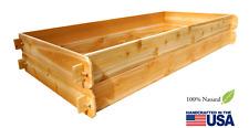TIMBERLANE GARDENS Deep Raised Garden Bed Cedar Planter Gardening Kit Vegetable