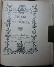 POESIA BUCOLICA/SICILIA/CLASSICI GRECI: TEOCRITO, IDILLI.