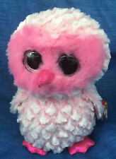W-F-L TY Buddy Twiggy Eule pink Schleiereule  Boos Glubschi 22 cm Glitzeraugen