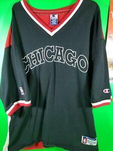 Vintage 90s Champion Chicago Bulls NBA Official Shooting Shirt Mens Size 2XL (8)