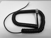 The VoIP Lounge Replacement 25 Ft Black Long Handset Receiver Cord for Yealink SIP Phone T40P T41P T32G T38G T40G T42G T46G T48G T41S T42S T46S T48S T52S T54S