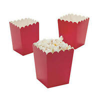 Pack of 12 - Red Popcorn Boxes -  Party Box Favors