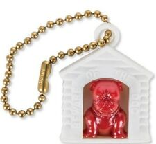 Keychain French English BULLDOG IN DOG HOUSE 1950s Mid Century Modern Retro