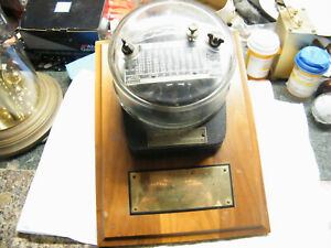 Vintage GE Time Over Current Relay Meter Award 'Lauderdale Plant' Steampunk?
