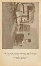 1926 ALLEGAN FURNITURE SHOPS CARD (ALLEGAN, MICHIGAN
