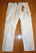 NWT MENS LEVI STRAUSS LEVIS SLIM CARPENTER JEANS PANTS WHITE STRETCH 34 X 30 $70
