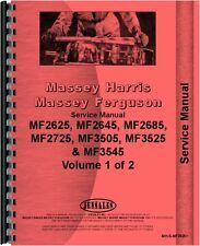 Massey Ferguson 2625 2645 2685 3505 3525 Tractor Service Manual Mh S Mf2625