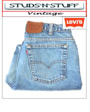 "VINTAGE LEVIS 516'S SLIM STRAIGHT RAW CUT JEANS W38"" L23"" APROX SIZE UK 18 (T204"