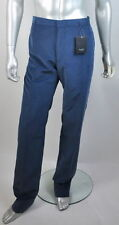 $595 NWT Paul Smith London 100% Cotton Blue Flat Front Corduroys Pants 36