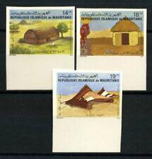 Mauritania 1982 Mi. 761-763 Nuovo ** 100% Non dentellati Architettura. abitazio