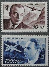 1947 FRANCE PA  Y & T N° 21/22 Neufs *  AVEC CHARNIERE
