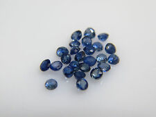 0.95cts 25pc Natural Loose Blue Saphire 1.9-2.1mm Round AAA Quality Great Color