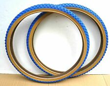 Pair DURO 20x1.75 BMX Bike Gum Wall Tires Color: Red Blue White Black w gum wall