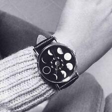 Leather Strap Quartz Movement Moon Phase Watches Wrist Watch Lunar Eclipse