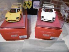 1/18 Jeu Ferrari F40 BBR Giallo Modena ou White Avus.... no Kyosho, CMC, Elite