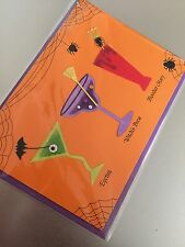 HANDMADE PAPYRUS / JOLIE PAPIER HALLOWEEN GREETINGS CARD SPOOKY COCKTAILS