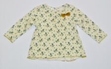 Zara Baby Girl Tulle Bow Fern Leaves Print Long Sleeve Top, 9-12 mos.