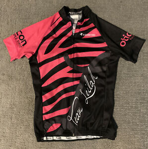 Womens Cycling Jersey Blackbottoms X Small Black and Pink