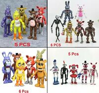 5 Or 6 PCS Set Five Nights At Freddy's FNAF Video Game Action Figure Toy Gift US