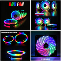 120mm RGB LED Cooling Fan DC 12V 3Pin Brushless Cooler For Computer Case PC CPU