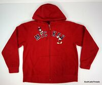 VTG Walt Disney Fleece Full Zip Hoodie Sweatshirt Fully Embroidered Adult Large