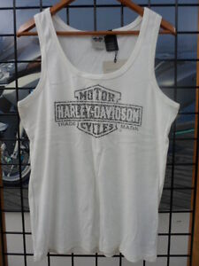NOS Harley Davidson Womens Bar & Shield Logo Sleeveless Tank Shirt 99100-12VW