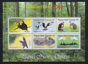 PAPUA NEW GUINEA  2008 BIRD STAMPS PROTECTED BIRDS SS  MNH - BIRDL301
