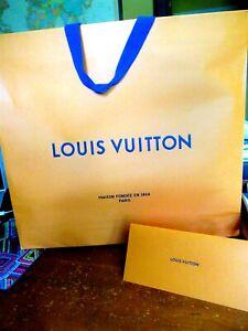 "Louis Vuitton Gift Bag Extra Large 21"" x 18"" x 5"" PLUS GIFT RECEIPT HOLDER"