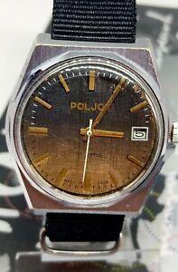 Russian Watch Poljot Soviet Mechanical Men's Wrist Watch Vintage USSR Serviced