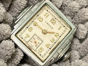 wristwatch CIRCLE  SWISS 7 jewels stainless stepped case
