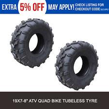 "2x 19x7-8"" inch Tubeless Tyre Tire for 125/150/200cc Quad Dirt Bike ATV Buggy"