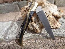 Couteau Damas Lame 128 couches Façon Laguiole Manche Bois/Acier T Bouchons Artis