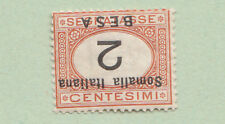 ITALIA COLONIE SOMALIA 1923 Segnatasse NUOVA VARIETA' SS. 34a con CERIFICATO MLH