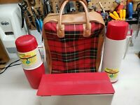 Vintage Thermos Plaid Picnic Set . Never Used
