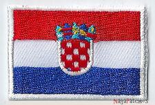 Ecusson patch brodé patche thermocollant drapeau Croatie petit badge 4,5x3 cm