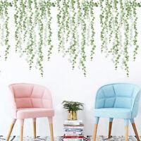 Plants Green Leaves Living Room Bedroom Decor Wall Stickers Diy Wall Door De Cw