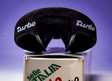 Selle Italia Turbo BIO scamosciata nera Saddle vintage eroica NUOVA NOS NIB