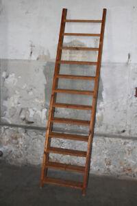 alte Holzleiter Leiter Holz Anlegeleiter Anleger 230cm Anlegehöhe Treppe