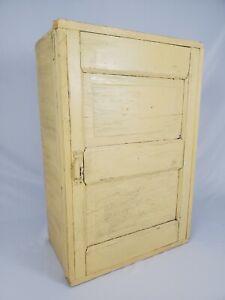 Antique Storage Cabinet Cupboard Wooden Farmhouse Primitive Vintage