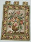 Vintage French Flowers Vase Scene Wall Hanging Tapestry (62X49cm)